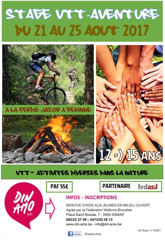 affiche VTT AVENTURE 2017 Fedasil